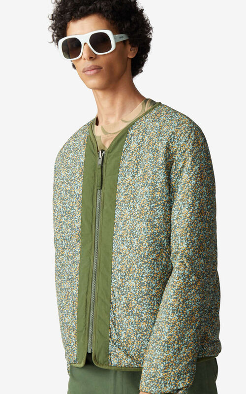 DARK KHAKI Lightweight reversible jacket for men KENZO