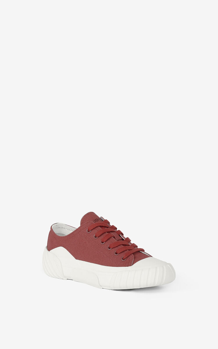 DARK ROSE Canvas Tiger Crest trainers for unisex KENZO