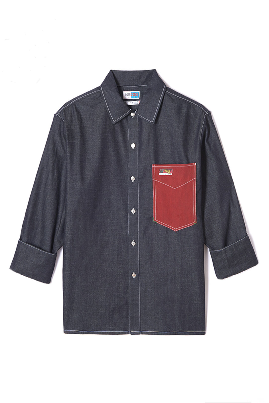NAVY BLUE Denim shirt for women KENZO