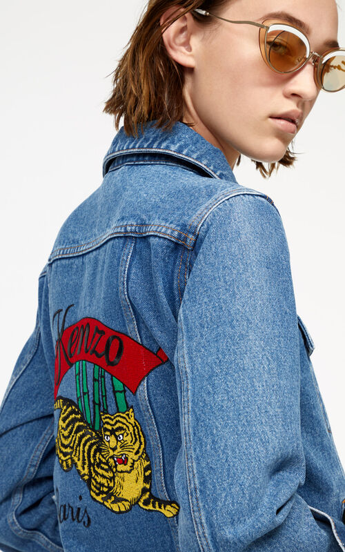 a701138fb6b0 ... INK  Bamboo Tiger  denim jacket for women KENZO.