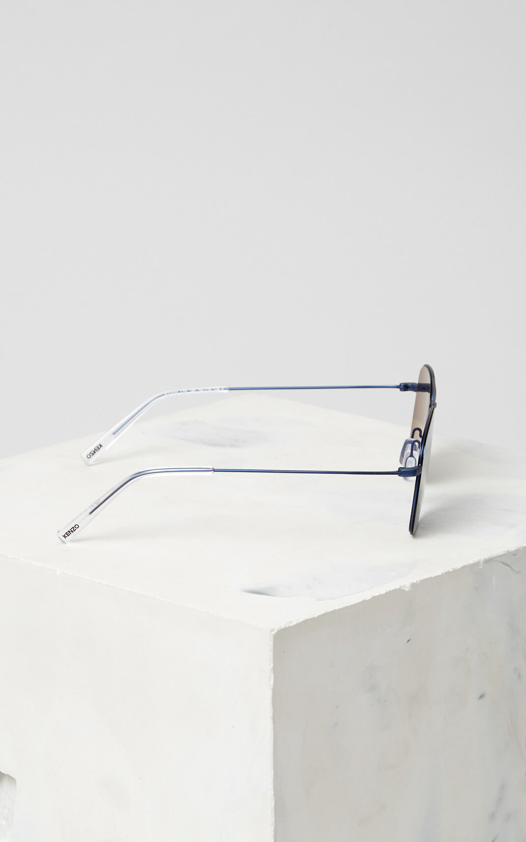 NAVY BLUE Flat Lens 'Kuba' Sunglasses for unisex KENZO