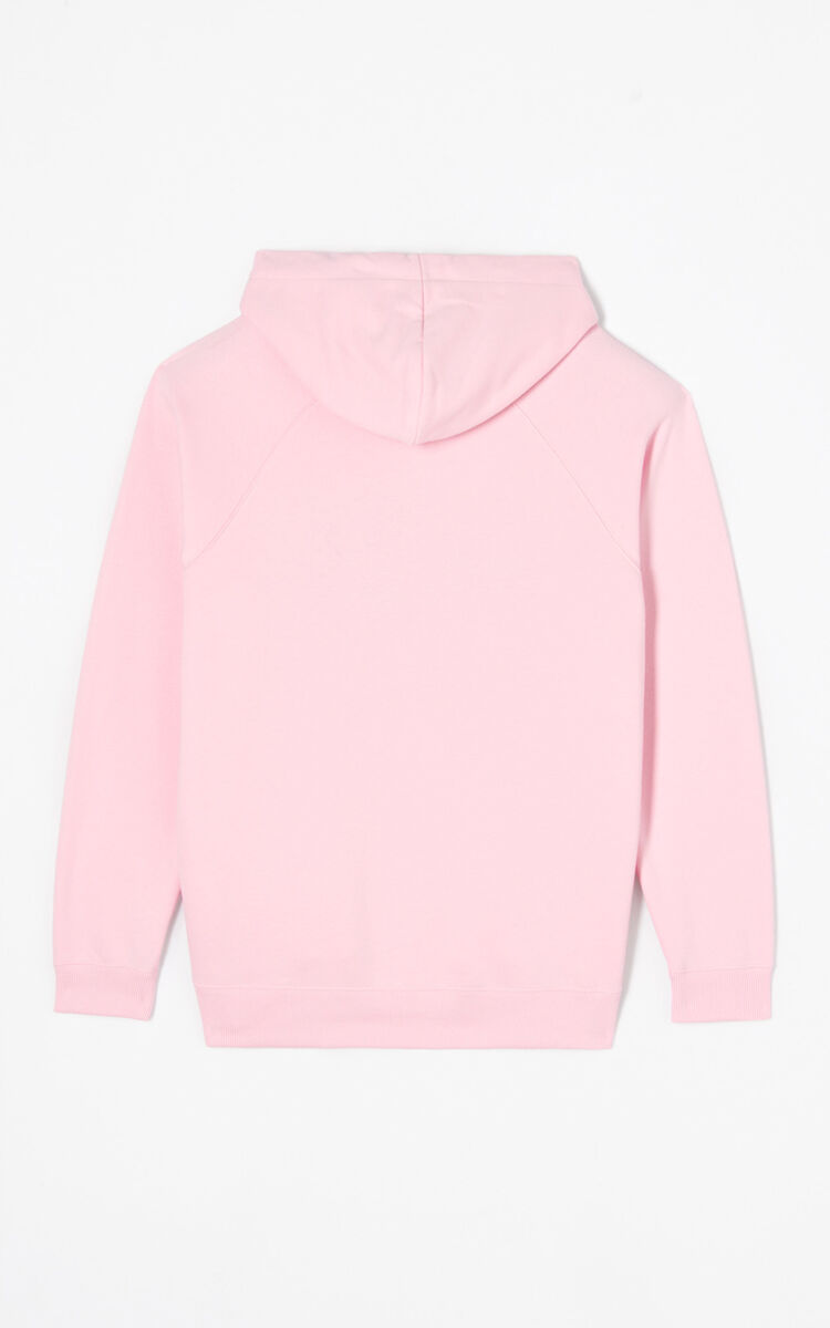 FLAMINGO PINK Eye hoodie for women KENZO