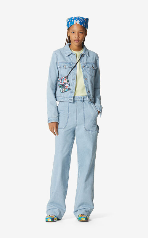 SKY BLUE Faded denim jacket for women KENZO