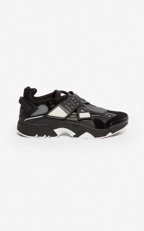 BLACK Sonic Scratch sneakers for unisex KENZO