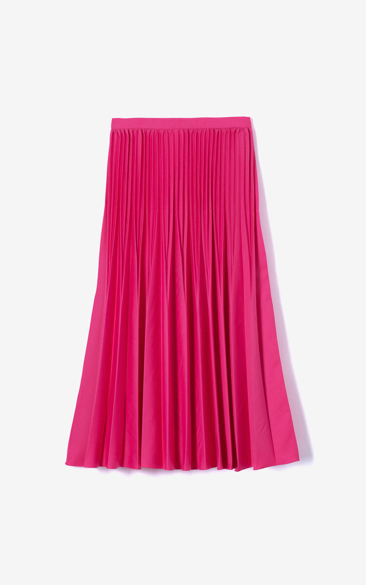 DEEP FUSCHIA Pleated Skirt for women KENZO