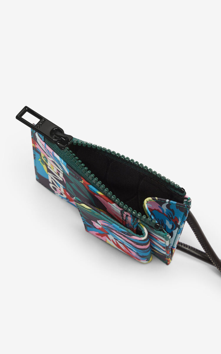 BLACK 'Tulipes' card holder for unisex KENZO