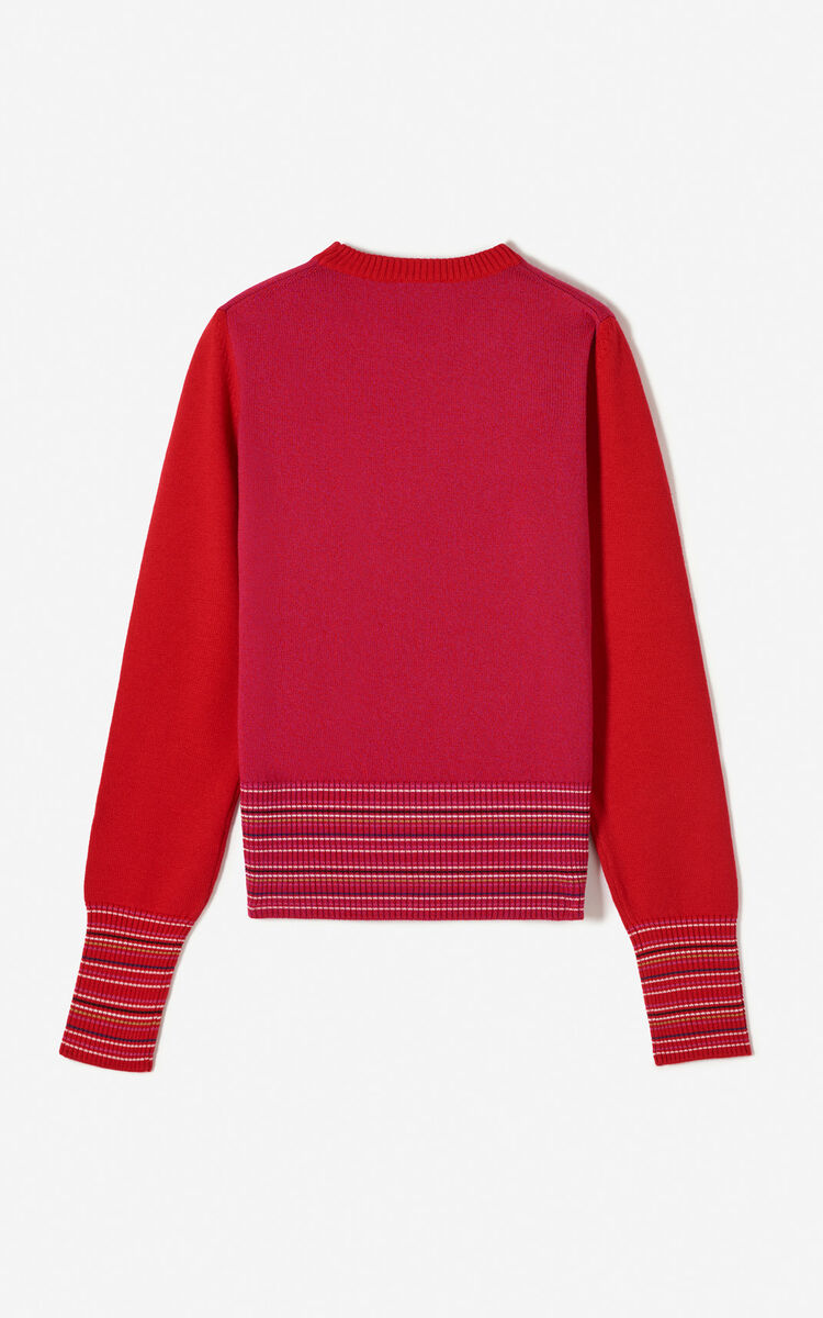 MEDIUM RED Tiger jumper for women KENZO