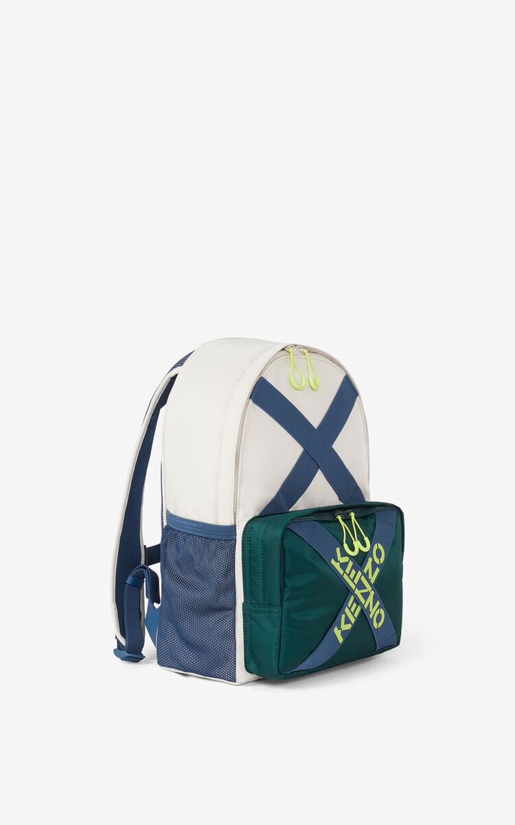 PALE GREY KENZO Sport backpack for unisex