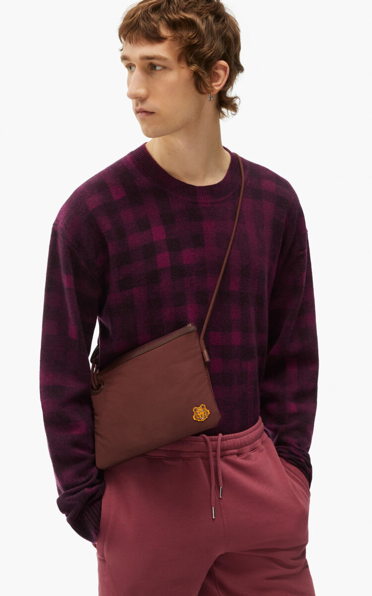 BORDEAUX Tiger Crest bag with strap for unisex KENZO