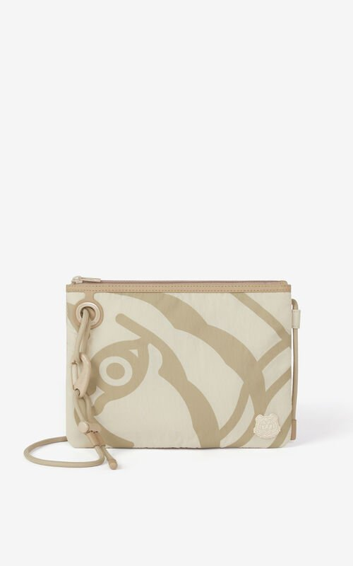 TAN K-Tiger crossbody bag for women KENZO