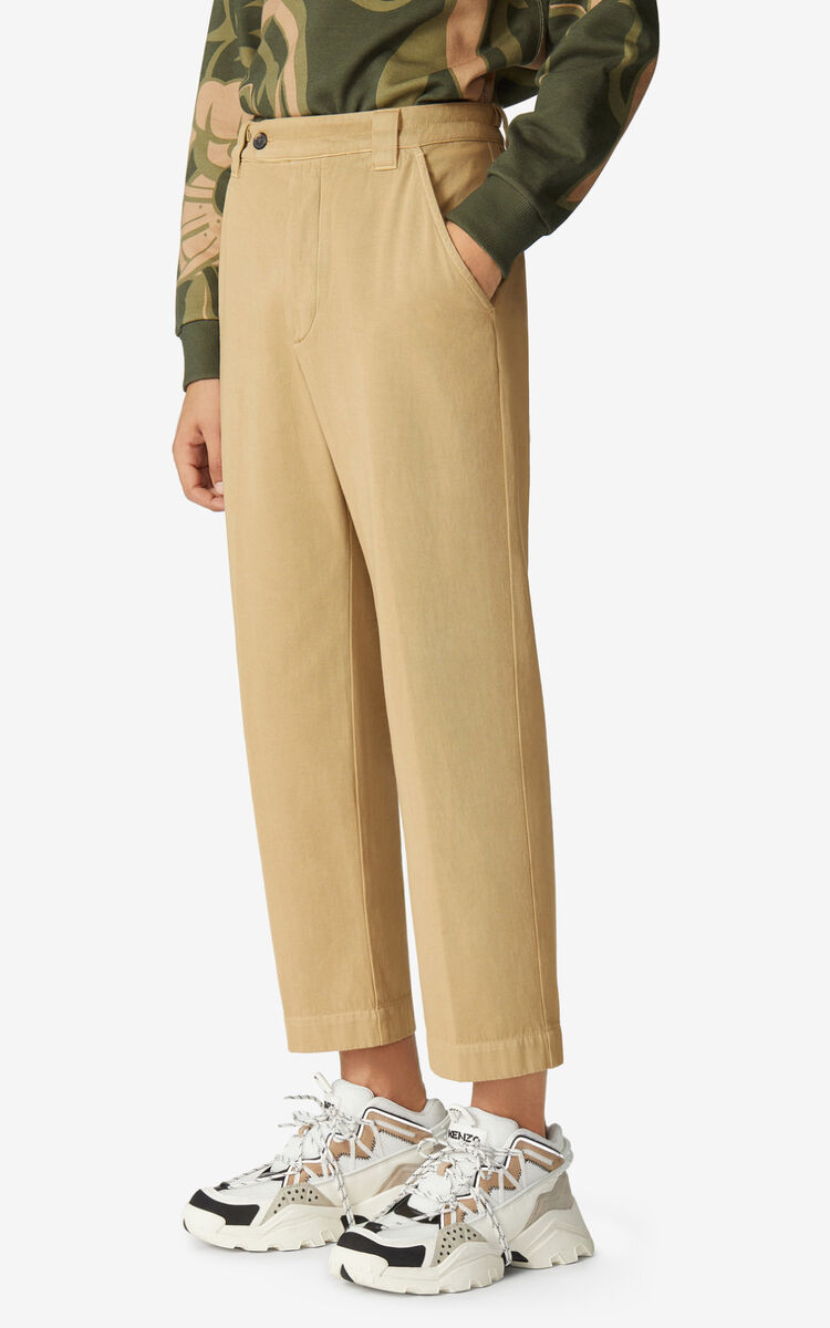 BEIGE Cropped trousers for women KENZO