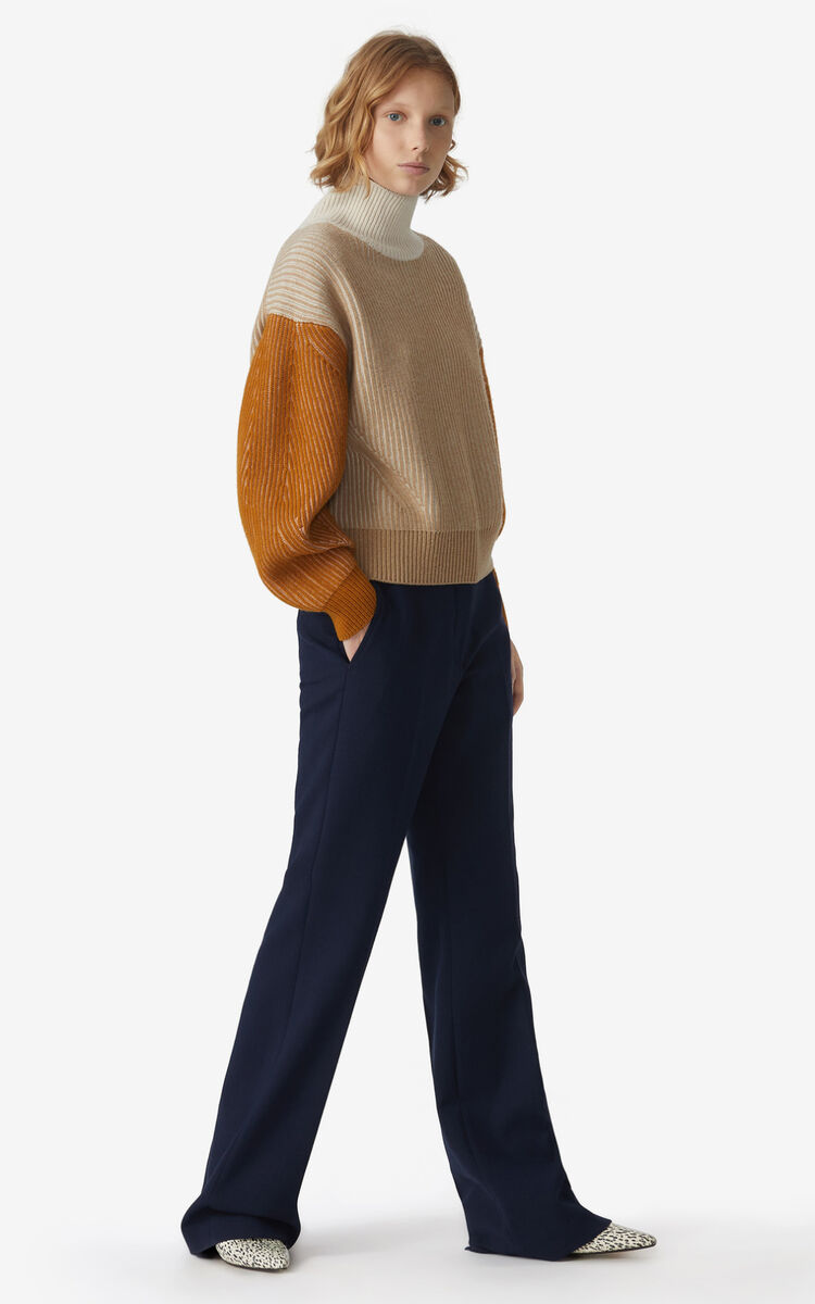 NAVY BLUE Flared trousers for women KENZO