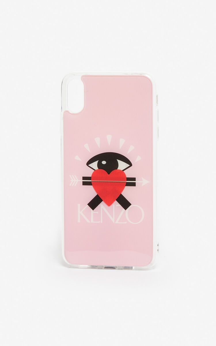 PASTEL PINK iPhone XS Max 'I ❤ KENZO Capsule' Case for unisex