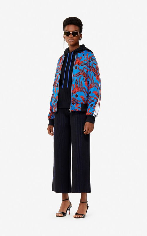 527139eb ... COBALT Jacquard 'Flying Phoenix' jacket for women KENZO