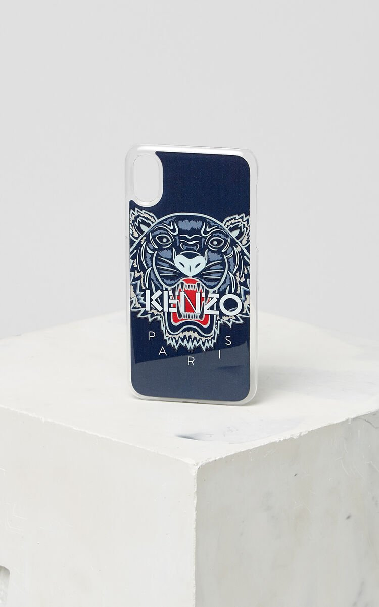 NAVY BLUE 3D Tiger iPhone X case for unisex KENZO