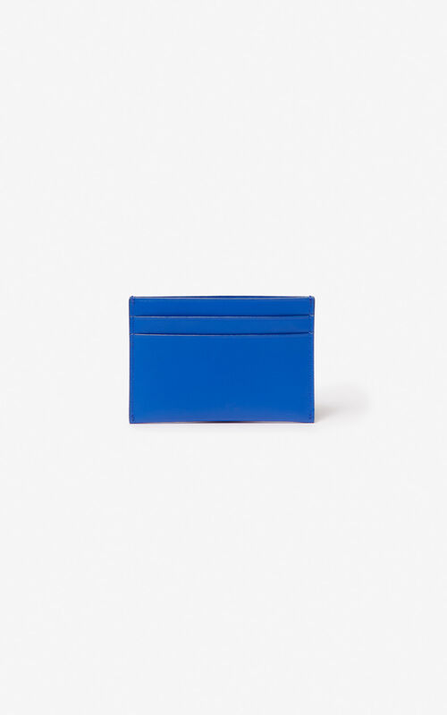 COBALT KENZO logo leather card holder for unisex