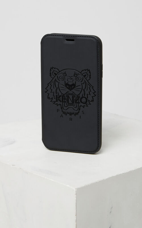 BLACK Tiger iPhone X Folio for women KENZO