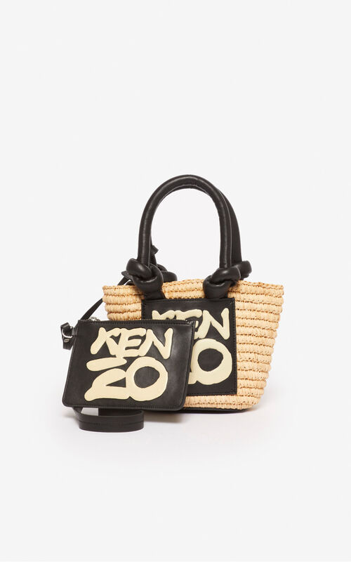 ECRU Kopakabana small basket for unisex KENZO