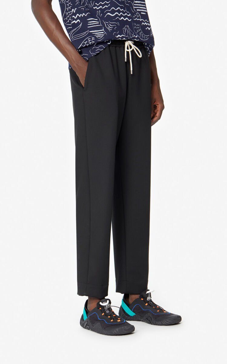 BLACK Tapered trousers. for men KENZO