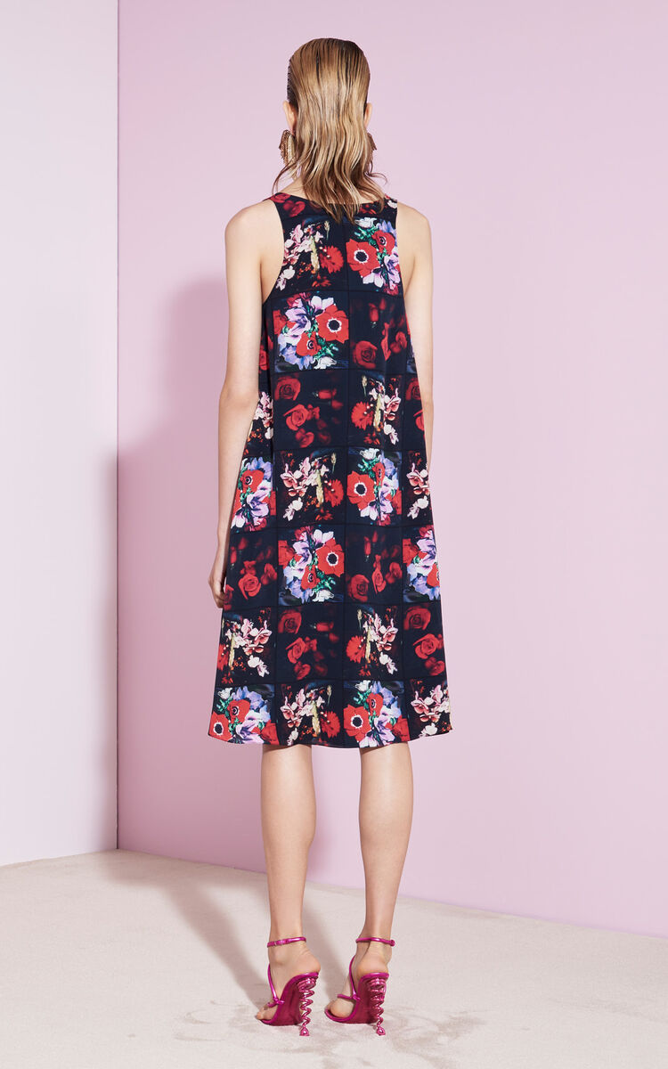 Silk Floral Dress For Kenzo Kenzo