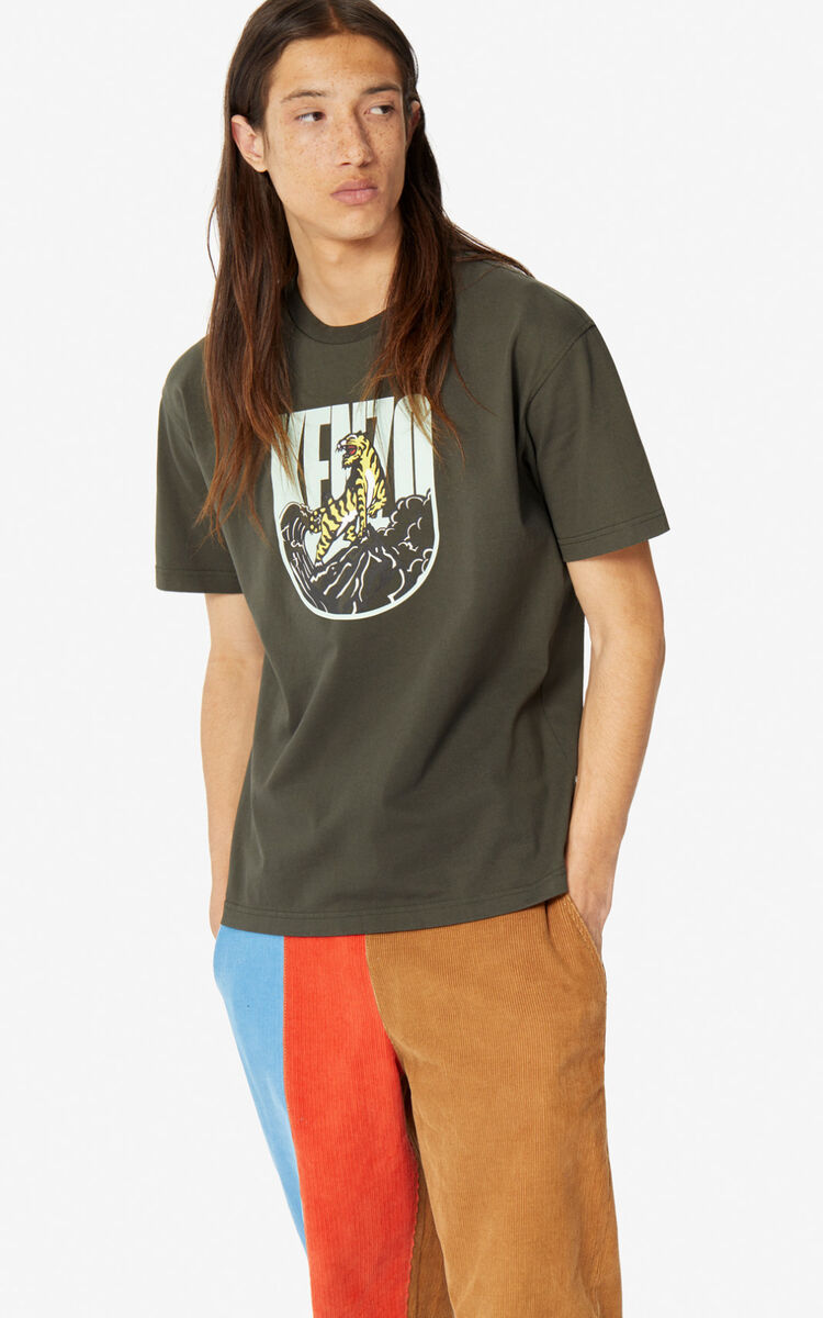 DARK KHAKI 'Tiger Mountain' 'Capsule Expedition' T-shirt for men KENZO