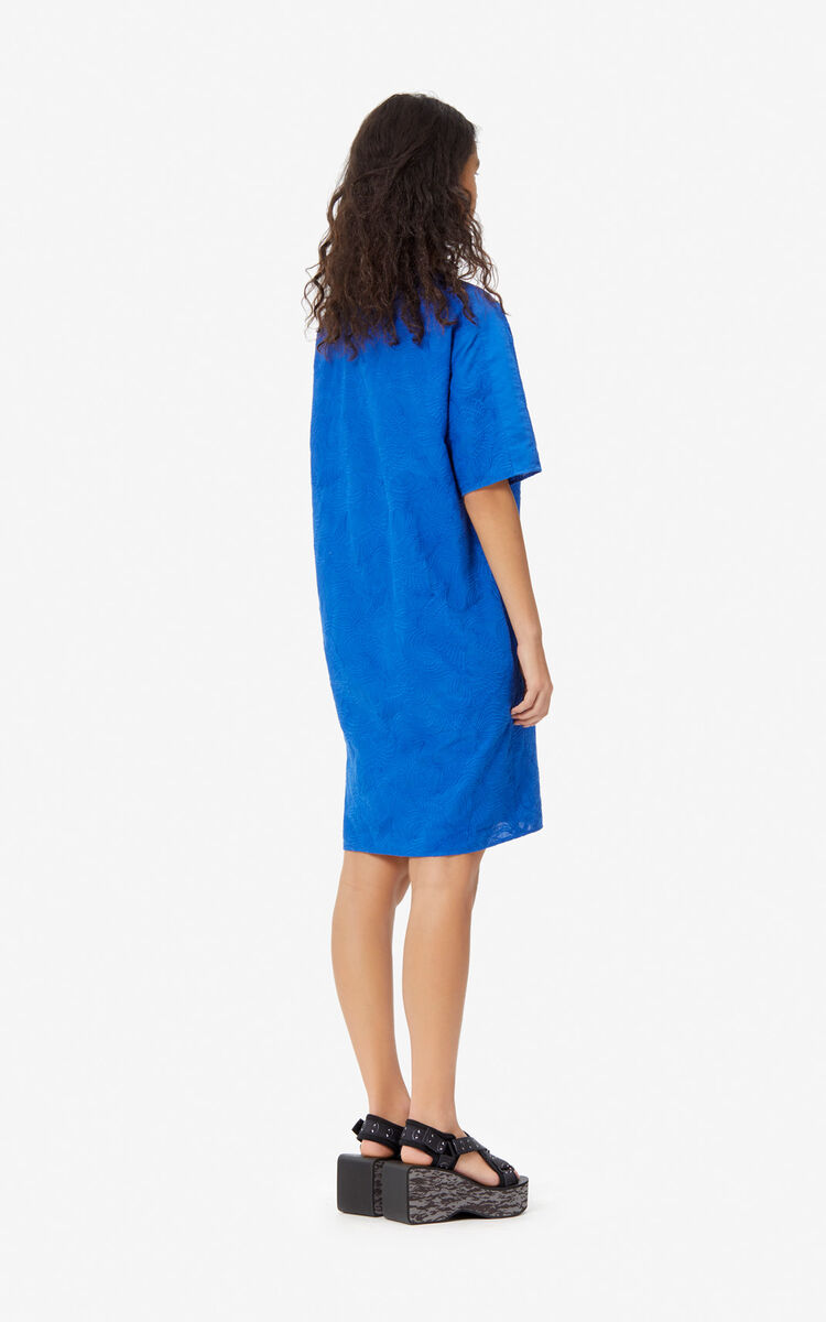 FRENCH BLUE 'Flying Phoenix' t-shirt dress for women KENZO