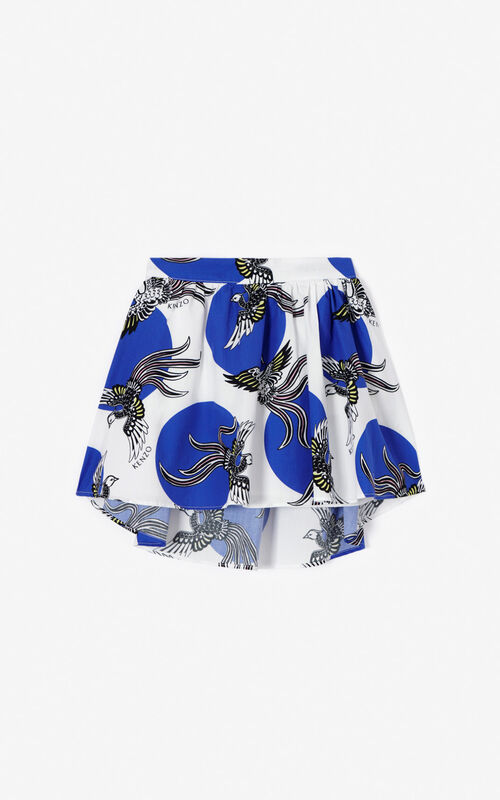 WHITE 'Phoenix Celebration' skirt for women KENZO