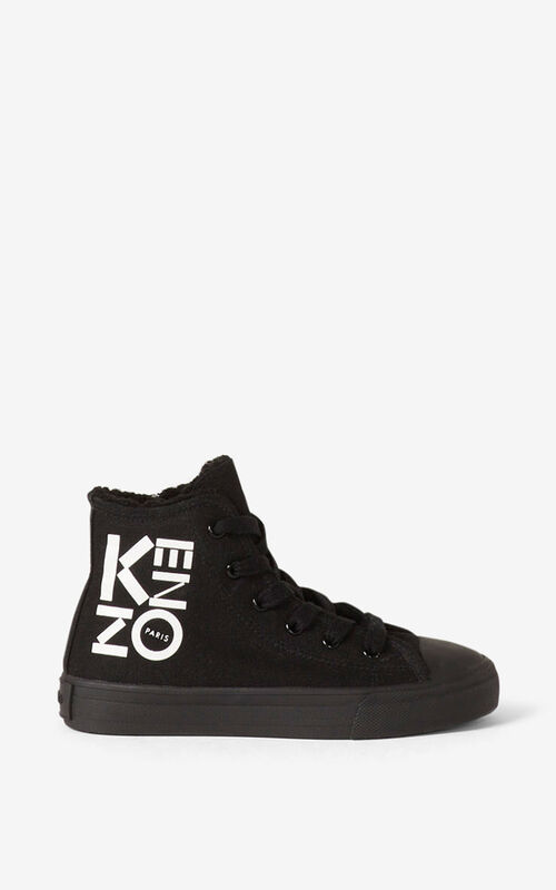 BLACK 'Ventura' high-top sneakers for women KENZO