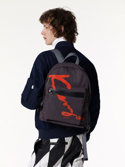 ANTHRACITE KENZO Signature Backpack for men