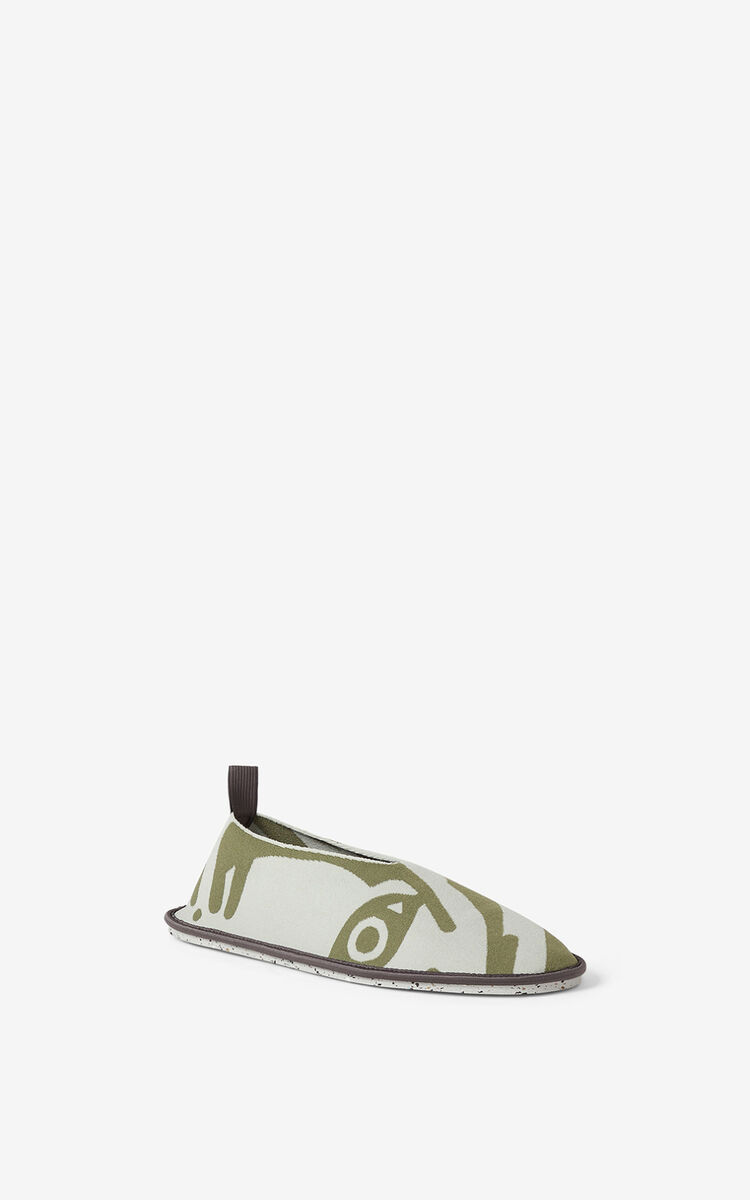 SAGE GREEN K-Tiger K-Knit loafers  for women KENZO