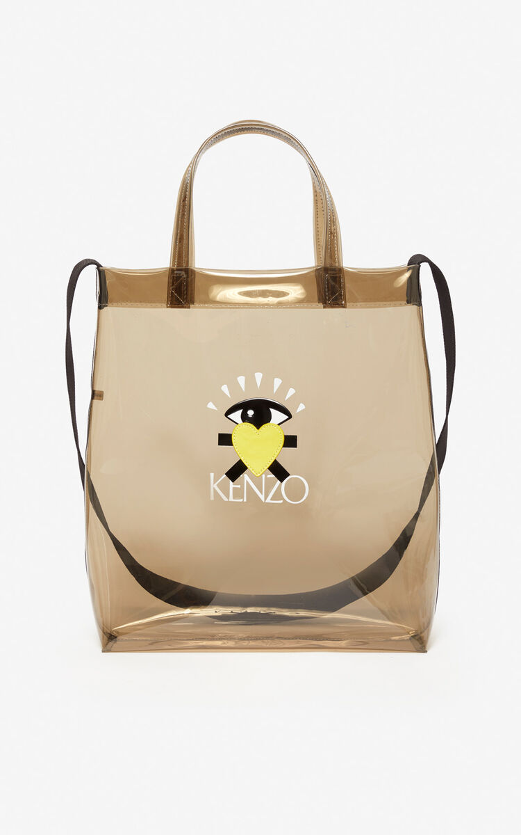 ANTHRACITE 'Cupid' tote bag for women KENZO