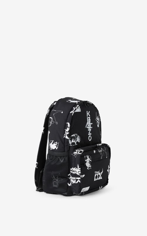 BLACK 'Chinese New Year Capsule' 'Sign & Symbol' rucksack for unisex KENZO