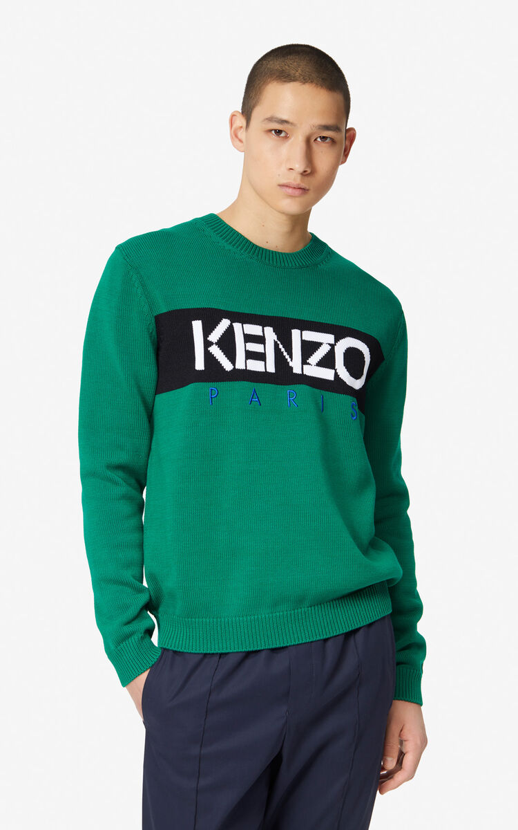 GRASS GREEN KENZO Paris jumper for men