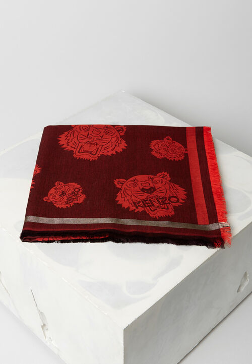 MEDIUM RED Tiger Scarf for unisex KENZO