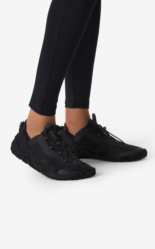 BLACK KENZO Sport Wave mesh sneakers for women