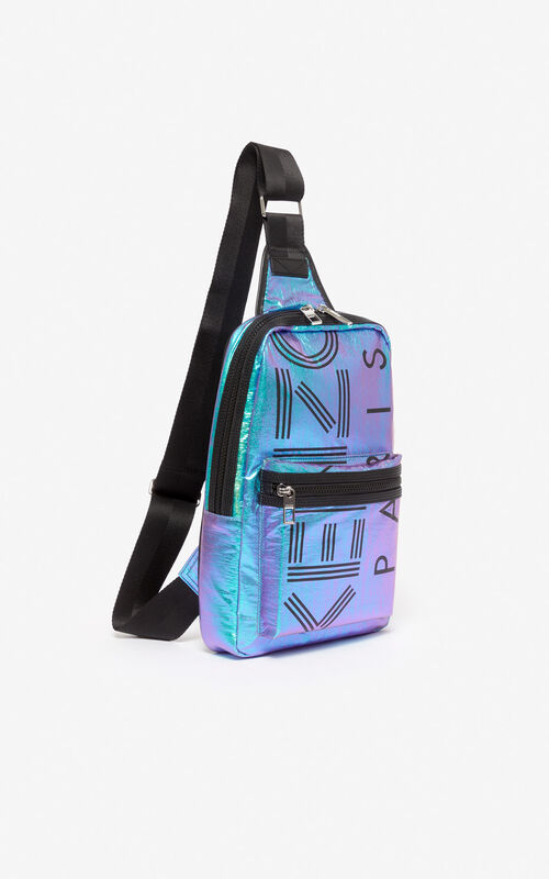 TURQUOISE 'Holiday Capsule' KENZO Logo crossbody bag for unisex