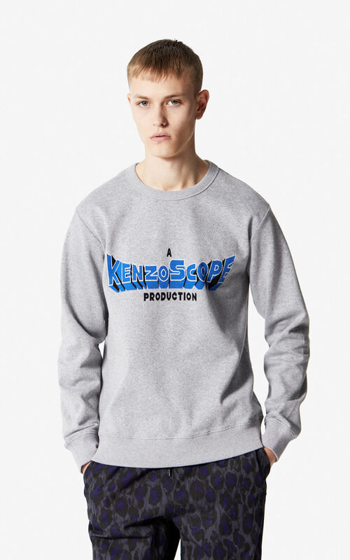 DOVE GREY 'Kenzoscope' sweatshirt for men