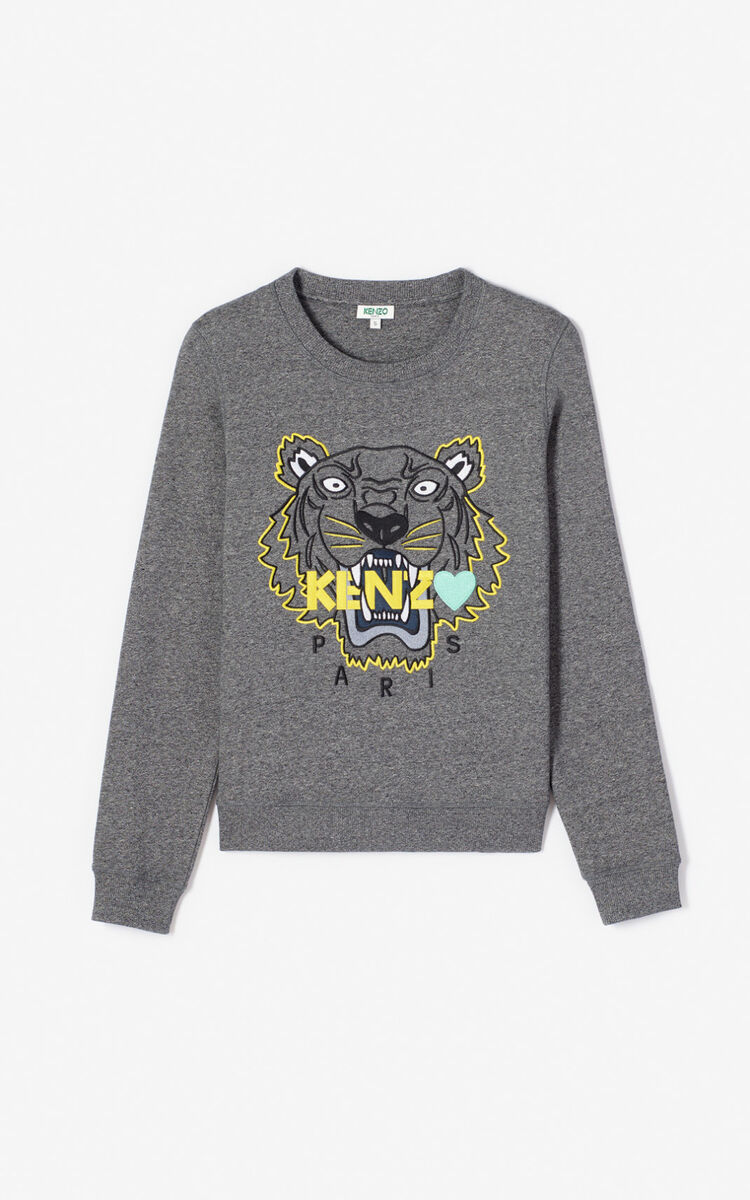 ANTHRACITE Tiger sweatshirt for women KENZO
