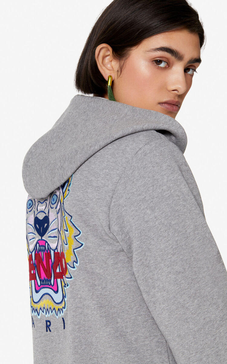 DOVE GREY Tiger jacket for women KENZO