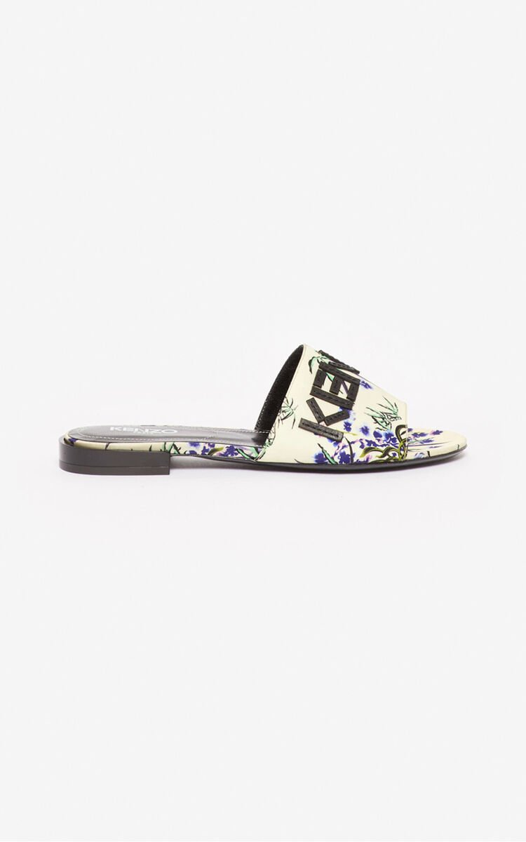 ECRU Kruise 'Sea Lily' mules for unisex KENZO