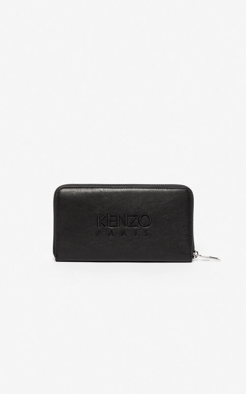 BLACK 'Kampus' Tiger wallet for unisex KENZO