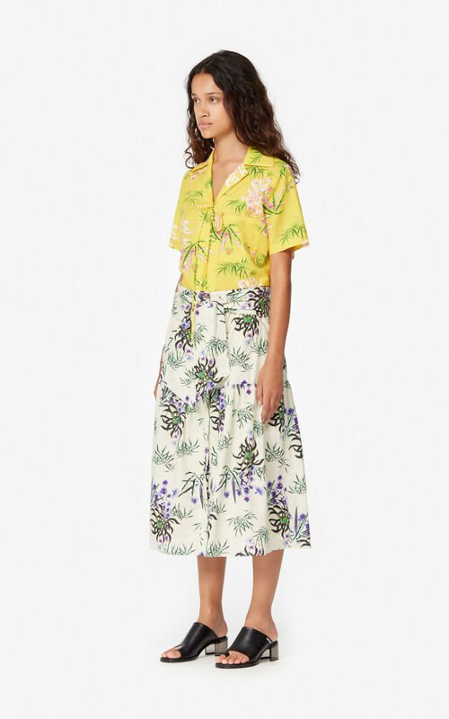 LEMON 'Sea Lily' shirt with tie for women KENZO