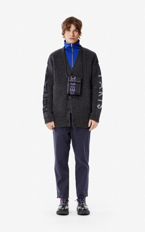 ANTHRACITE KENZO cardigan for men