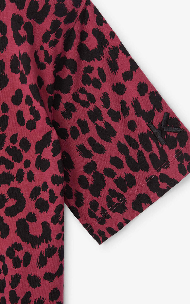 MAGENTA 'Leopard' loose-fitting T-shirt for women KENZO