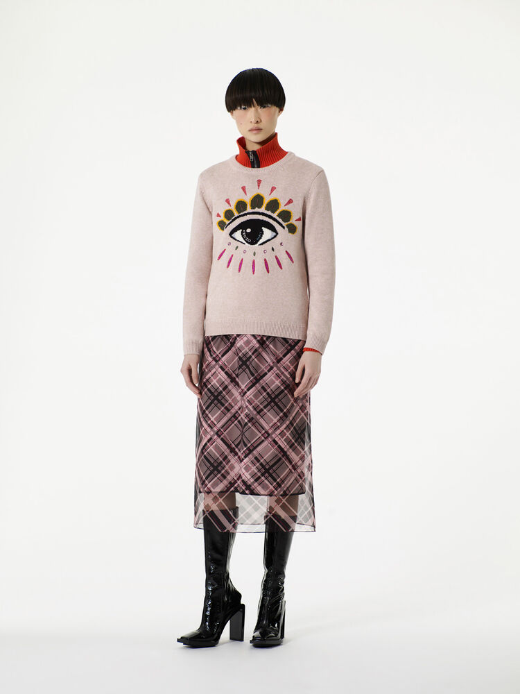 FADED PINK Frame Check' Skirt  for women KENZO