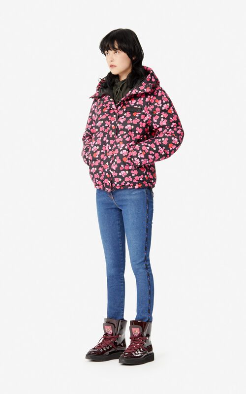 BLACK Quilted 'Peonie' 'Capsule Expedition' puffer jacket for women KENZO
