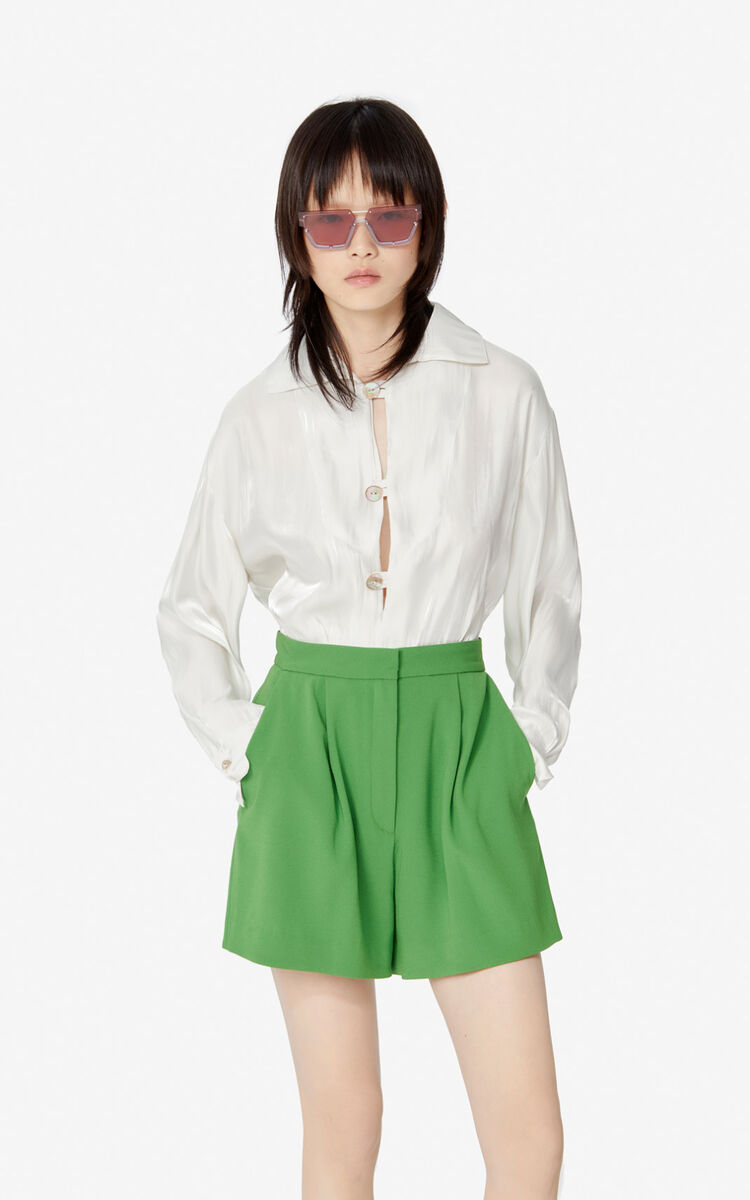PISTACHE Pleated shorts for women KENZO