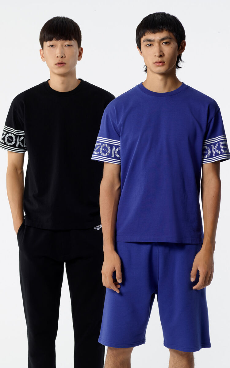 FRENCH BLUE KENZO Logo T-shirt for men
