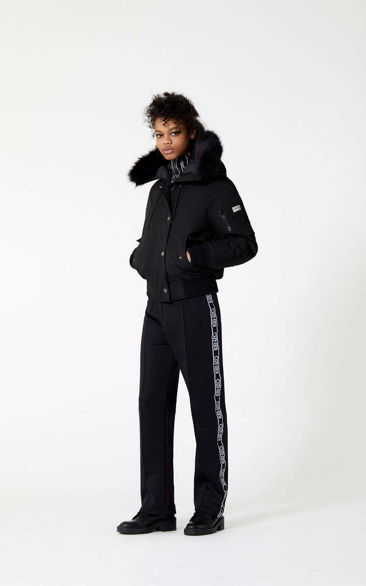 BLACK Puffa Jacket for women KENZO