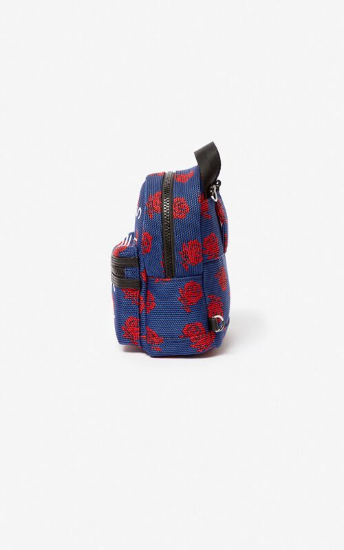 COBALT Mini KENZO Logo 'Roses' backpack for unisex